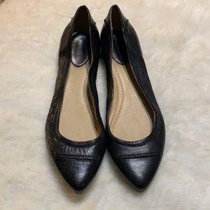 Frye Olive Seam Ballet Flats